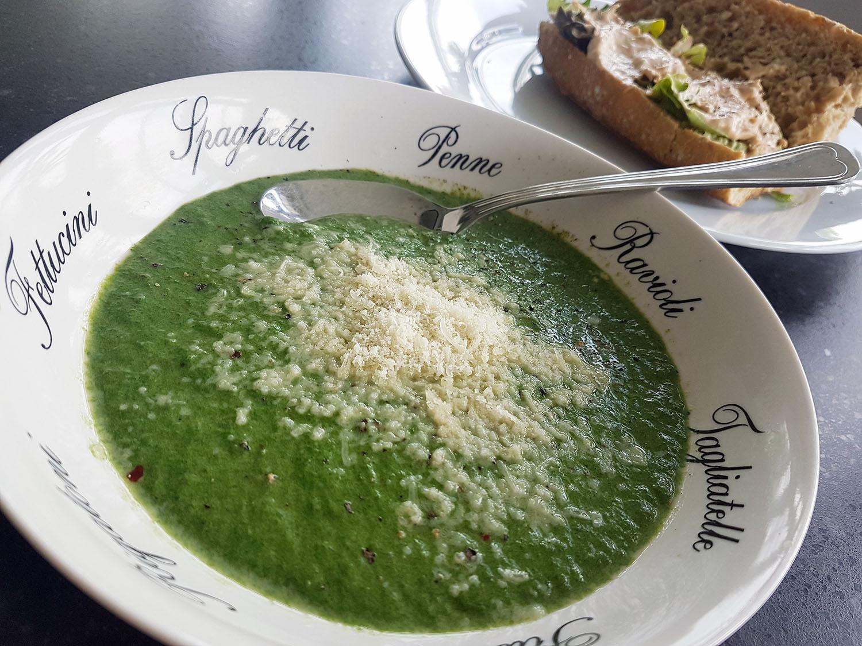 zuppa di spinaci, spinaziesoep