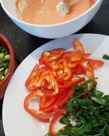 verse ingrediënten voor een salsa
