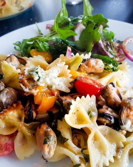 pasta met mosselen uit de diepvries